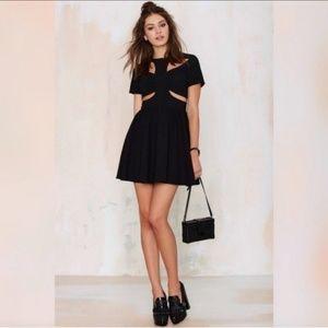NWT Nasty Gal Natia Cutout Fit & Flare Dress XS